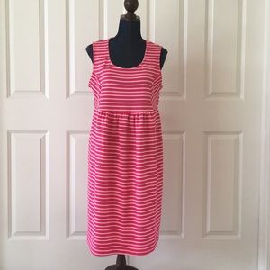Three Seasons Maternity dress pink white striped
